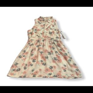 PACSUN O'NEILL FLORAL & CREAM SLEEVELESS DRESS NWT